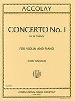アコーライ : バイオリン協奏曲 第1番 イ短調/インターナショナル・ミュージック社/ピアノ伴奏付ソロ楽譜