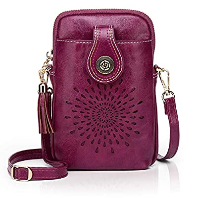 APHISON Small Crossbody Cell Phone Purse for Women Mini Messenger Shoulder Bag Wallet with Credit Card Slots 163-1