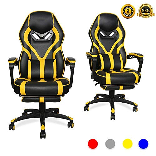 LUCKWIND Video Gaming Chair Racing Recliner - Ergonomic Adjustable Padded...