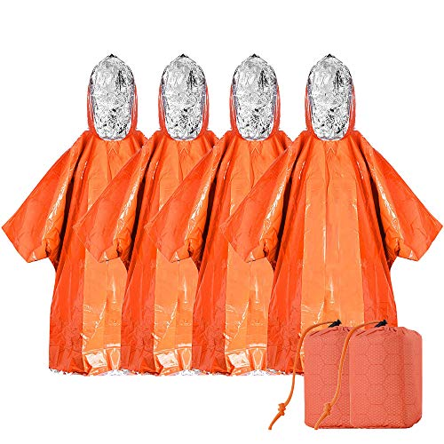 HURRY FREE Emergency Blankets Ponchos 4 Pack Clip the coupon & use promo code: 509MDUWV