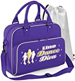 Musicalitee Line Dancing - Line Dance Diva - Purple Lila - Tanztasche & Schuh Tasche Dance Shoe Bags