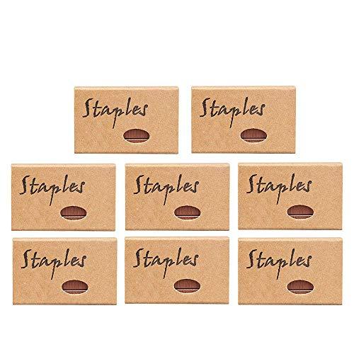 7600 Pcs Rose Gold Staples Standard 24/6 26/6 12mm #12 Width Staples for Stapler Refills Office Supplies School Binding Desk Accessories, 8 Boxes(Rose Gold)