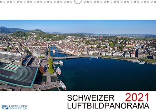 Schweizer Luftbildpanorama 2021CH-Version (Wandkalender 2021 DIN A3 quer)