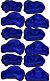 Playkids Rock Holds (12 Pack-Small) for Indoor & Outdoor Rock Climbing (Also Known as Rock Pegs or Rocks)(Blue)