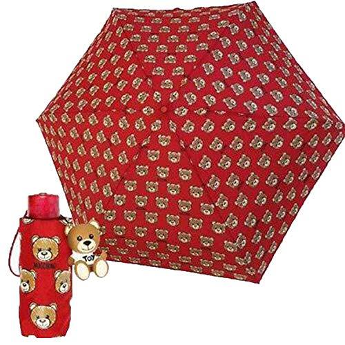 Regenschirm Love Moschino Supermini rot Teddy-Muster