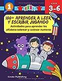 100+ Aprender a leer y escribir jugando: Actividades para aprender los alfabeto colorear y rastrear numeros: Practica con vocabulario español tarjetas ... partes del cuerpo humano para niños de 3 6