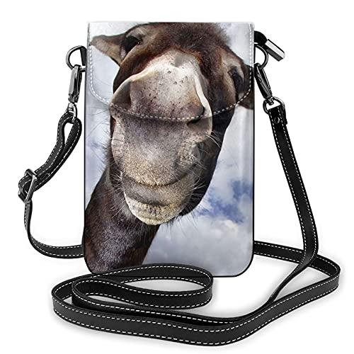 mengmeng Donkey With Fun Cross Body Bag Pequeño teléfono celular bolso casual Bolsas de hombro para mujeres