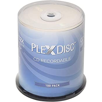 PlexDisc CD-R 700MB 80 Minute 52x Recordable Disc - 100 Pack Spindle (FFP) - 631-805