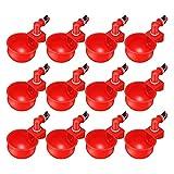 1/6/12 piezas de plástico automático dispensador de agua pollo, copas de aves, dispensador de agua, bebedero de agua, utensilio para pájaros, codorniz, pollo, gallina