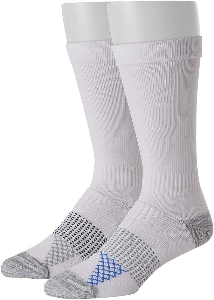 Hanes mens Hanes Men's Crew Compression Socks, 2-pack