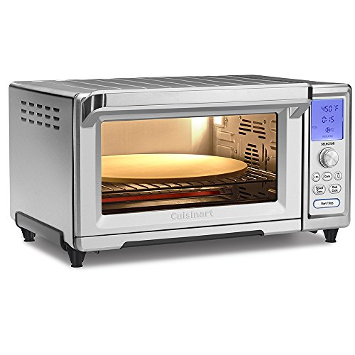 "Cuisinart TOB-260N1 Chef's Convection Toaster Oven, Stainless Steel, 20.87""(L) x 16.93""(W) x 11.42""(H)"