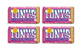 Tony's Chocolonely | Pack of 4 | White Chocolatewith Raspberry and Popping Candy Bar, 6.35 Oz Each