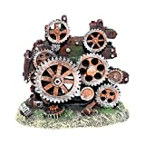 Baoblaze 1 Pieza única Ornamento de Acuario Creativo Engranaje Estatua paisajismo Tanque de Peces de Barril sin Fondo desvanecimiento Accesorios