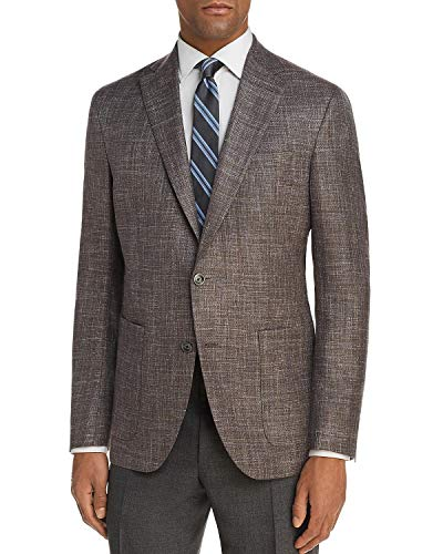 Jack Victor 1913 Mens Regular Fit Two-Tone Hopsack Unstructured Sportcoat 38R Brown