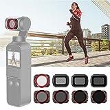Neewer Filtre d'Objectif Compatible avec DJI Osmo Pocket Caméra, Filtres Magnétiques ND4 ND8 ND16 CPL ND8/PL ND16/PL ND32/PL ND64/PL, Verre Optique et Cadre en Aluminium Aviation
