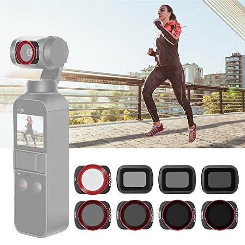 Neewer Magnetische Objektiv Filter Set Kompatibel mit DJI Osmo Pocket Kamera 8 Teile ND4 ND8 ND16 CPL ND8/PL ND16/PL ND32/PL ND64/PL aus optischem Glas und Aluminiumrahmen