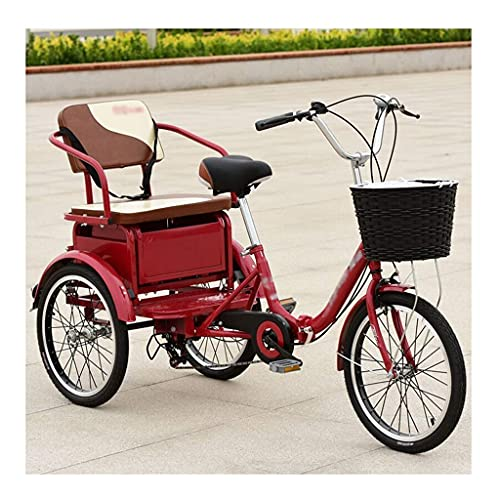 FGVDJ Variable Speed Cruise Bike with Baskets and Back Seat Outdoor Sports City Urban Bicycle Older People Pedaled Tricycles Adults for Recreation