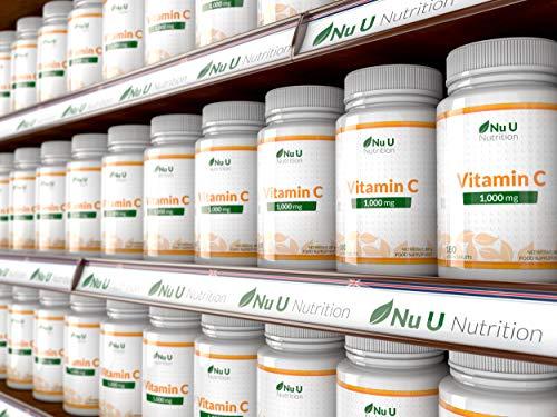 Vitamin C 1000mg 180 Tabletten (6 Monatsversorgung) von Nu U Nutrition - 8