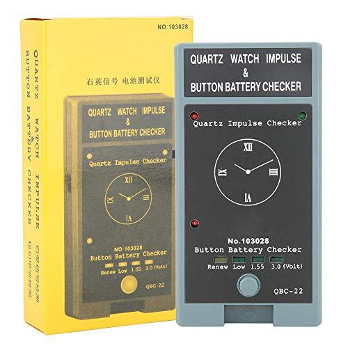 Probador de batería de botón, Probador de batería para baterías pequeñas, Probador de comprobador de batería de reloj, Herramienta de batería de reloj de cuarzo portátil, Probador de corriente de volt