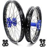 KKE 21/18 Dirt Bike Enduro Wheels Rims For YAMAHA WR250R 2008-2020 Off Road Blue