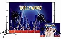 GooEoo 5x3ftハリウッドの背景赤いカーペットの写真の背景デザート誕生日パーティー用品映画賞パーティー活動家族のパーティー誕生日の背景ベビーシャワーの装飾ビニール素材