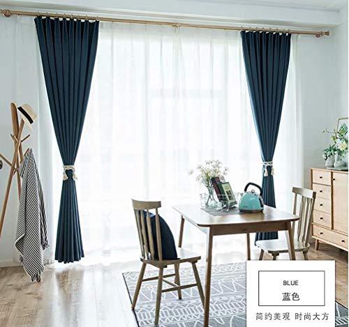 LJWLZFVYJ Moderne minimalistische Herringbone Leinen Baumwolle Nordic Vorhänge Wohnzimmer Schlafzimmer Schatten Isolationsvorhänge 135x255cm (B x H) 2 Stück