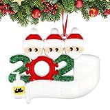 Sunshine smile Adorno de Familia Sobrevivido, 2020 Adorno navideño,Adornos para árboles de Navidad, 2020 Adorno navideño, Christmas Ornament 2020,Decoraciones navideñas Familia sobrevivida (3)