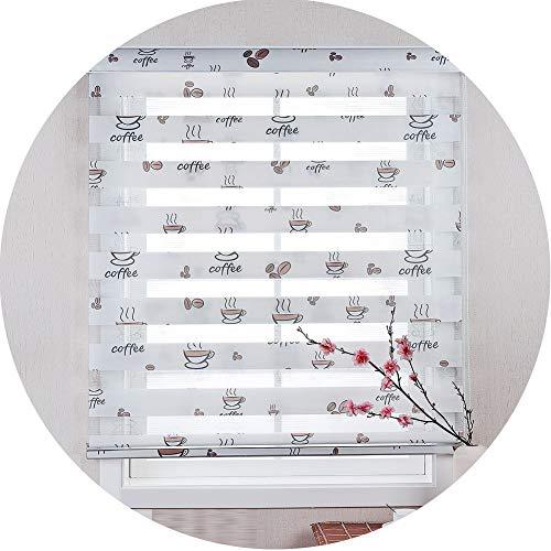LIQICAI Estor Enrollable Doble Malla Transparente Y Poliéster Opaco Tela De Doble Capa Cortina, Tamaños Múltiples (Color : A, Size : 70x160cm)