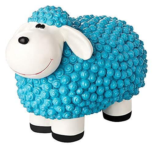incubado Mini Schaf Molly Deko-Figur Gartenfigur, Gartendekoration für den Garten Außen-Bereich, klein (Pastell blau)