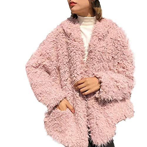 Best Bargain WEISUN Womens Fur Coat Winter Wrap Warm Fluffy Coat Fleece Fur Jacket Outerwear Hoodies...