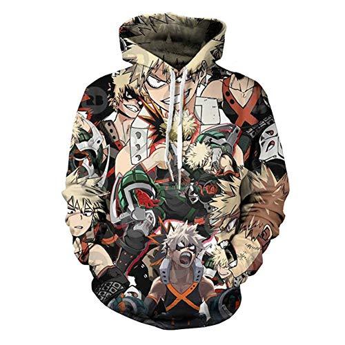 Elibeauty My Hero Academia Kostüm Graffiti Unisex Kapuzenpullover Sportswear Langarm Hoodie Gr. XXL, Verschiedene Farben