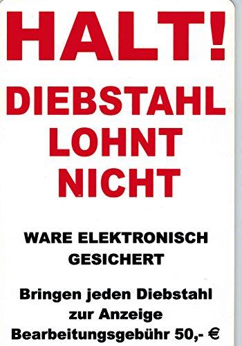 Schild - HALT - DIEBSTAHL LOHNT SICH NICHT - Gr. ca. 30 x 20 cm - 308588