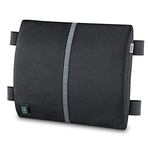 Beurer HK 70 rugsteun met warmtefunctie, rugsteunkussen voor een ergonomische zithouding, geïntegreerd warmtekussen, ook in de auto te gebruiken