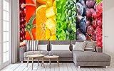 Fotomural Vinilo para Pared Arocoiris Fruta | Fotomural para Paredes | Mural | Vinilo Decorativo | Varias Medidas 100 x 70 cm | Decoración comedores, Salones, Habitaciones.