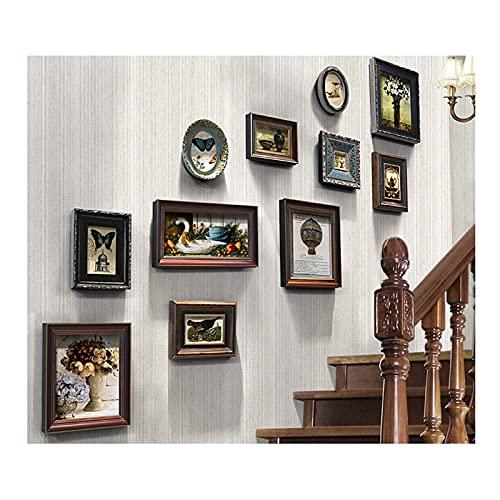 N\C Collage de Cadres Photo, Combinaison de Bois Massif, pour Mur et Maison, plexiglas, Conception de Montage Mural LKWK