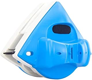 GYHZP Glass cleaner, strong magnetic double-layer hollow double-sided glass wipe, upgraded anti-pinch (Color : Blue)