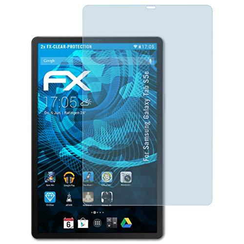 atFolix Schutzfolie kompatibel mit Samsung Galaxy Tab S5e Folie, ultraklare FX Displayschutzfolie (2X)