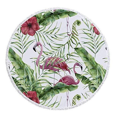 ETH Ronde Beach Handdoeken Tapestry Hippie, 59 InchThrow Deken Reizen Tafelkleed Tassel Flamingo Zwembad Sjaal Camping 150cm duurzaam