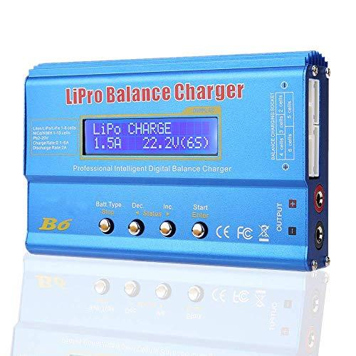 Akozon Repuestos para vehículos con Control de Balance LCD Digital iMAX B6 (80W)