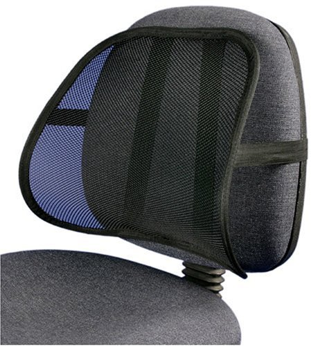 PrimeTrendz Cool & Breathable Mesh Support - Lumbar Support Cushion Seat Back Muscle Car Home Office Chair Pain Relief Travel by Lumbar Mesh Supporter