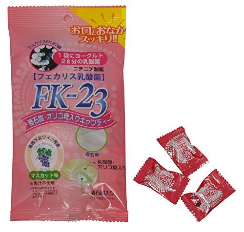 ニチニチ製薬 FK‐23 酒石酸 オリゴ糖入りキャンディー マスカット味 10粒入り FKC