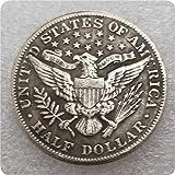MOMOKY Copy 1915 USA Half Dollar Antique Coin-Liberty&Eagle 50 Cents Collection Commemorative Coin America Morgan Silver Dollar Replica Discovery Collection