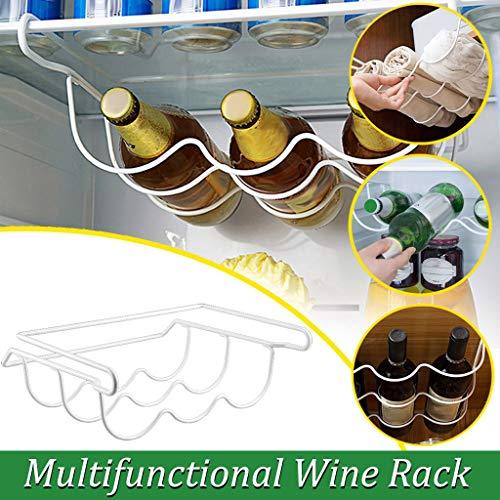 Flaschenablage,Fulltime Kühlschrank Flaschen Organizer Flaschenhalter für Kühlschrank,Kunststoff Flaschenregal Bierhalter,Weinständer