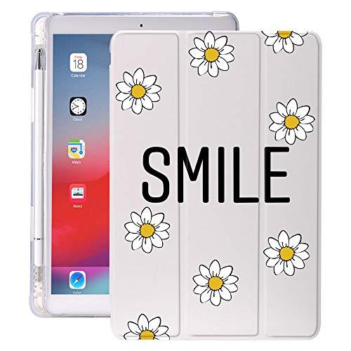 lingtai Daisy FOR Air 4 iPad Pro 2020 Caso Lindo Aire 1 con TITULARIO DE LÁPIZ Control 7º GENERACIÓN 7O 12.9 Pro 2018 Mini 5 Funda Silicona para 10.5 (Color : 565, Size : iPad 5 6)