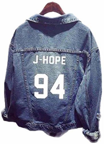 SERAPHY WOOKIT Unisex Jeansjacke für Army KPOP Hoodies Kapuzenpullover Suga Jin Jimin Jung Kook J-Hope Rap-Monster V 94 J Hope