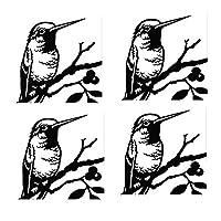 装飾的なオリオールズガーデンステークス、金属動物の庭の装飾、オリオールズファミリーシルエットガーデンデコレーション、屋外の芝生の装飾品の庭の看板 (Color : Black C)