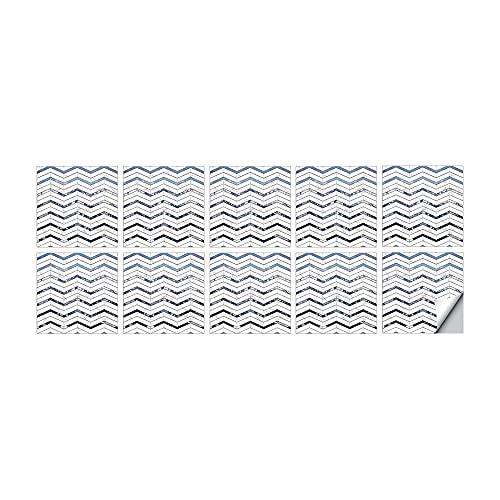 vinilos pared,10 piezas de 20cm PVC imitación epoxi pegatinas de baldosas, pegatinas de pared autoadhesivas decorativas impermeables y a prueba de aceite-04