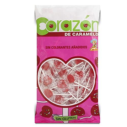 Cerdan Bolsa piruletas forma mini corazón sabor cereza 200 unidades