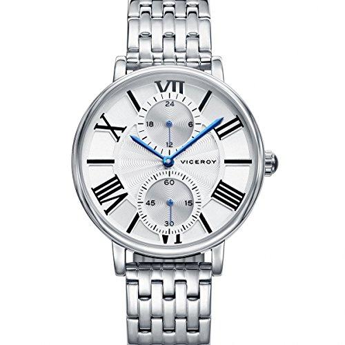 Viceroy Herren Analog Quarz Uhr mit Edelstahl Armband 42282-13