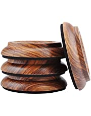 Harwls 4 stuks hardwood Furniture Caster Cups voor Beds Desk Piano Dresser Furniture Legs Caster Cups